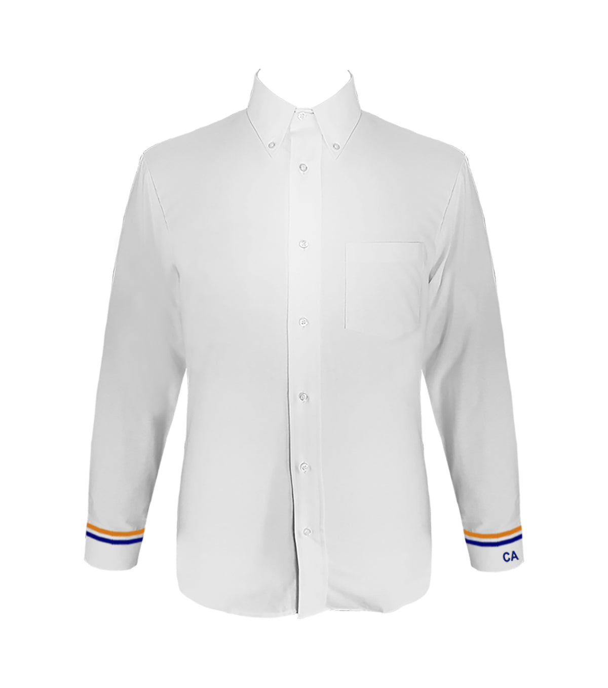 COLUMBIA DRESS SHIRT WITH EMBROIDERY ON LEFT CUFF AND BANDING, LONG SLEEVE, MENS