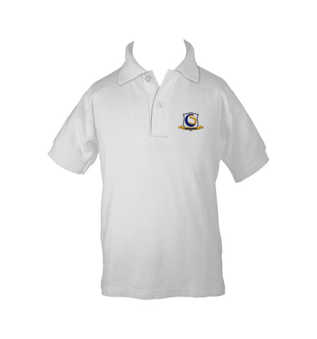 CHOICE SCHOOL WHITE GOLF SHIRT, UNISEX, SHORT SLEEVE, CHILD