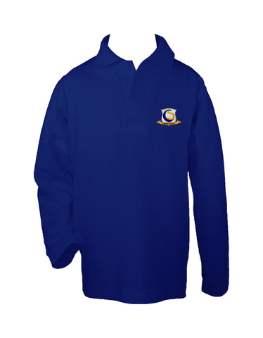 CHOICE SCHOOL ROYAL BLUE GOLF SHIRT, UNISEX, LONG SLEEVE, CHILD