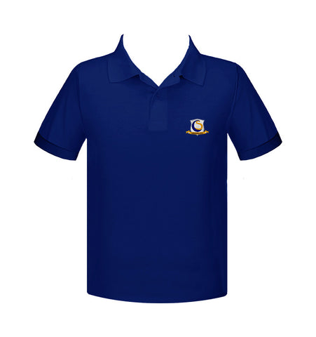 CHOICE SCHOOL ROYAL BLUE GOLF SHIRT, UNISEX, SHORT SLEEVE, CHILD