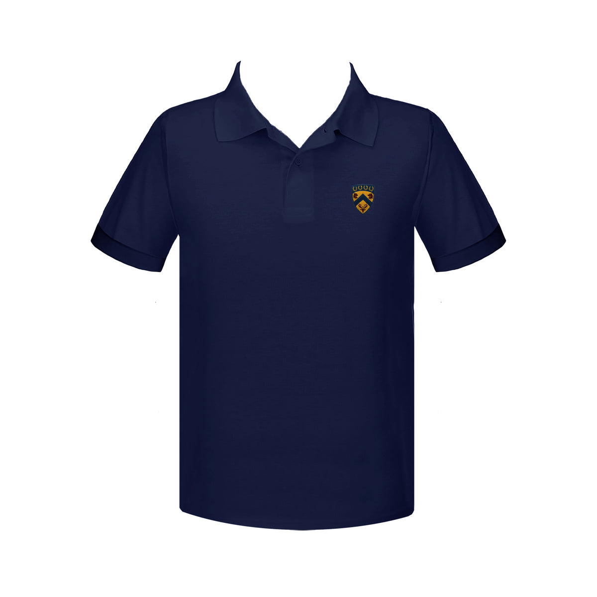 COLLINGWOOD NAVY GOLF SHIRT, UNISEX, SHORT SLEEVE, YOUTH