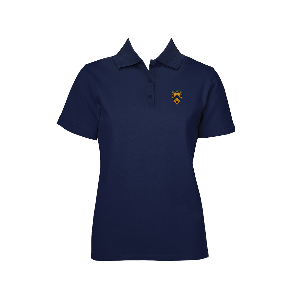 COLLINGWOOD NAVY GOLF SHIRT, GIRLS, SHORT SLEEVE, ADULT