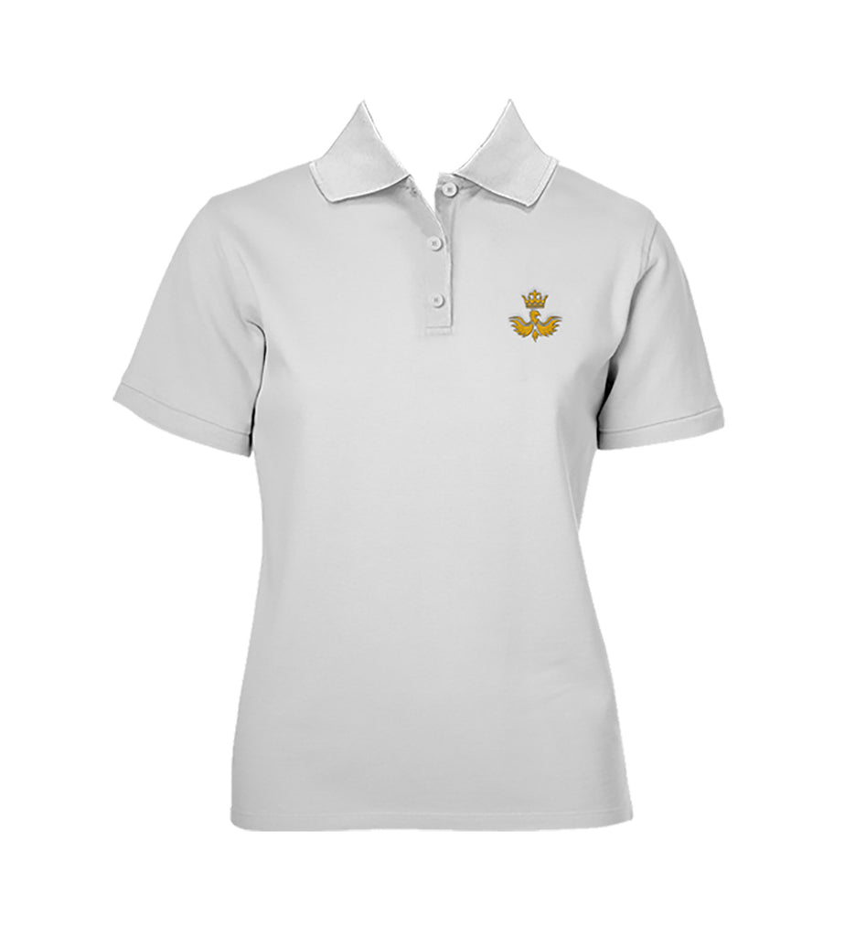 CANADA ROYAL ARTS WHITE GOLF SHIRT, GIRLS, SHORT SLEEVE, YOUTH