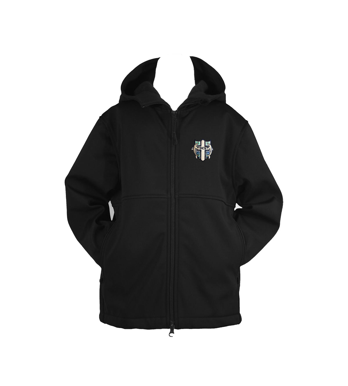 DELTA CHRISTIAN SCHOOL RAIN COAT WITH HOOD, UNISEX, CHILD