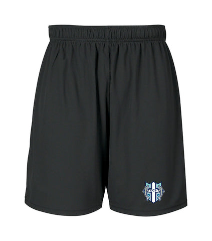 DELTA CHRISTIAN GYM SHORTS, WICKING, ADULT