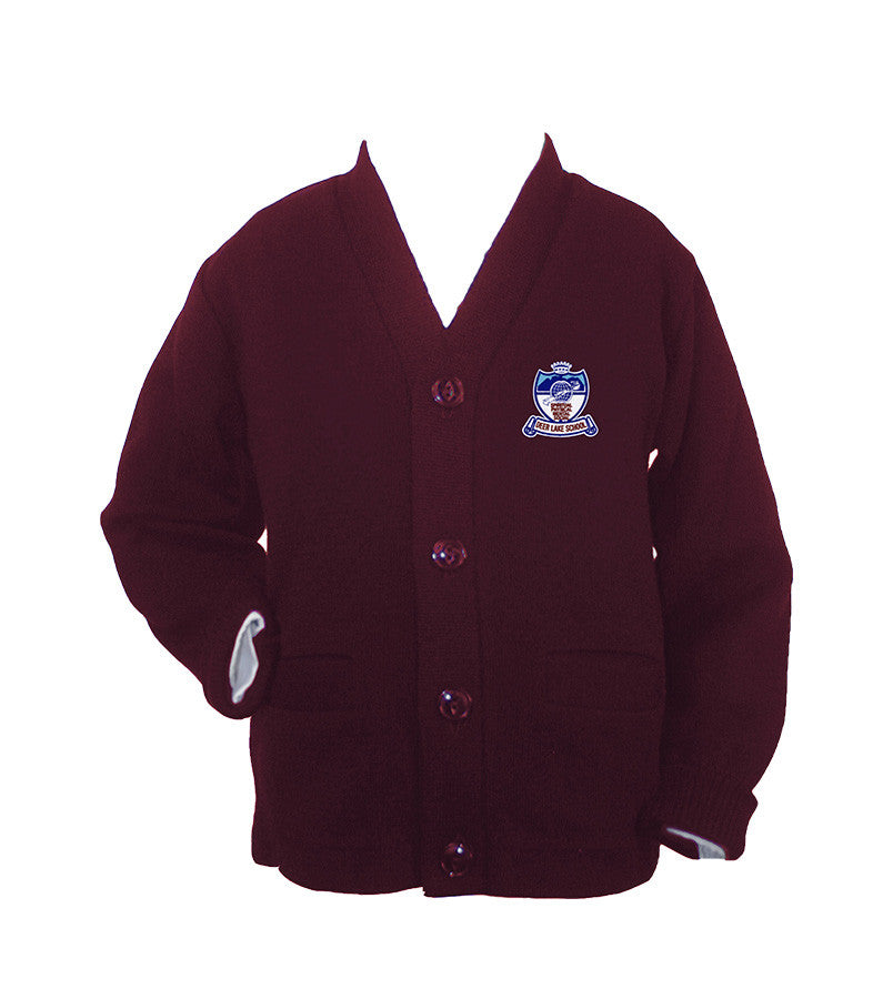 DEER LAKE BURGUNDY CARDIGAN, UP TO SIZE 42