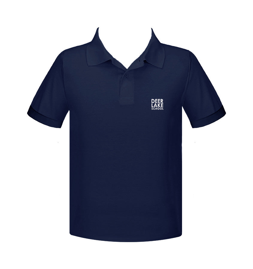 DEER LAKE NAVY GOLF SHIRT, UNISEX, SHORT SLEEVE, YOUTH