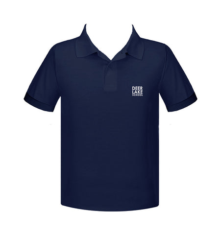 DEER LAKE NAVY GOLF SHIRT, UNISEX, SHORT SLEEVE, CHILD