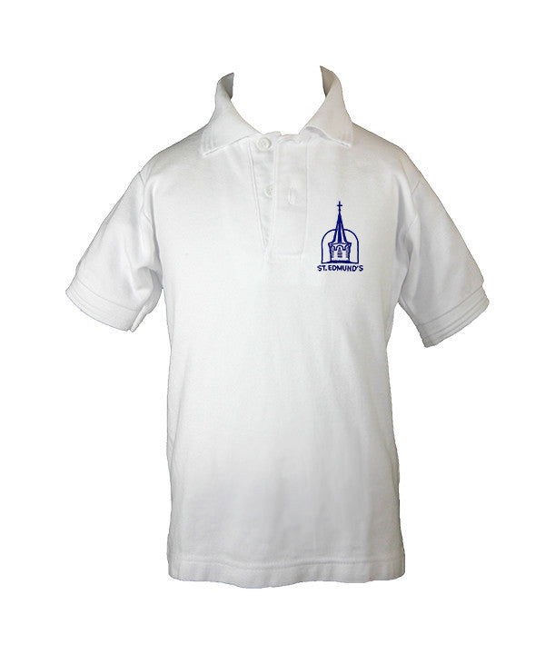 ST. EDMUND'S GOLF SHIRT, UNISEX, SHORT SLEEVE, CHILD