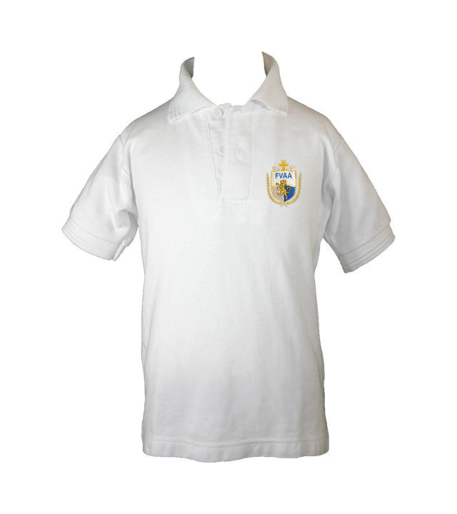 FRASER VALLEY ADVENTIST GOLF SHIRT, UNISEX, SHORT SLEEVE, CHILD