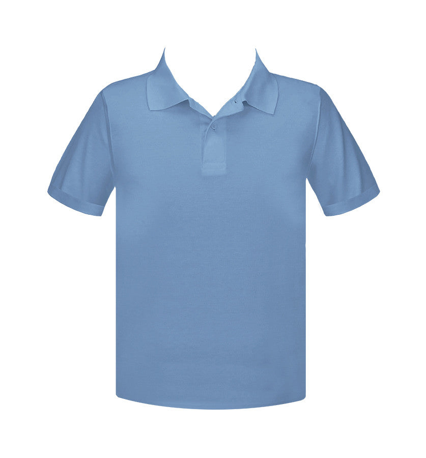 LIGHT BLUE GOLF SHIRT, UNISEX, SHORT SLEEVE, YOUTH