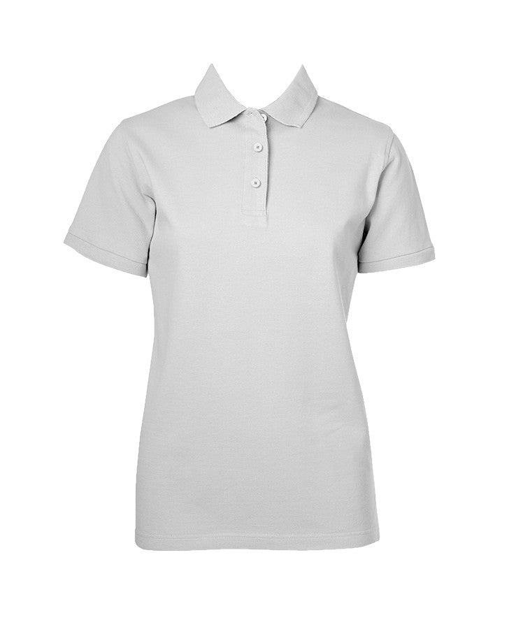 WHITE GOLF SHIRT, GIRLS, SHORT SLEEVE, ADULT