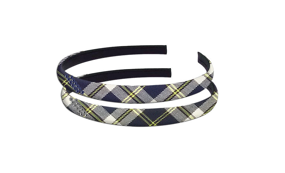 TARTAN HAIRBAND WITH CRYSTALS