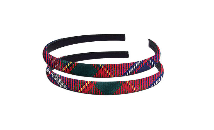 TARTAN HAIRBAND WITH CRYSTALS <br><strong> FINAL SALE</strong>
