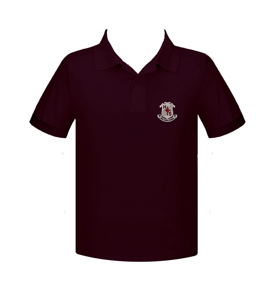 HOLY CROSS GOLF SHIRT, SHORT SLEEVE, ADULT