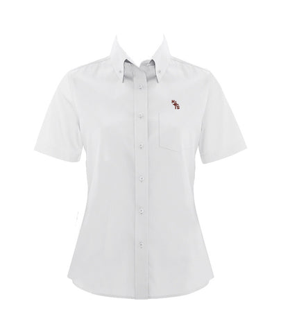 HOLY CROSS DRESS SHIRT, SHORT SLEEVE, LADIES