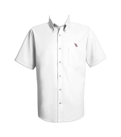 HOLY CROSS DRESS SHIRT, SHORT SLEEVE, MENS