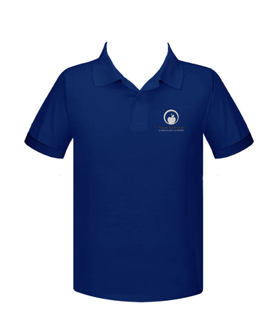 HOPE LUTHERAN ROYAL BLUE GOLF SHIRT, UNISEX, SHORT SLEEVE, YOUTH