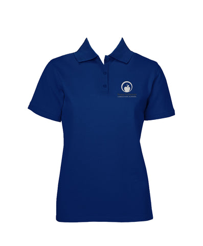 HOPE LUTHERAN ROYAL BLUE GOLF SHIRT, GIRLS, SHORT SLEEVE, YOUTH