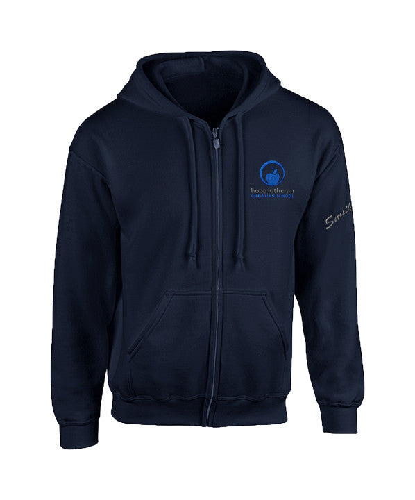 HOPE LUTHERAN ZIP HOODIE, YOUTH