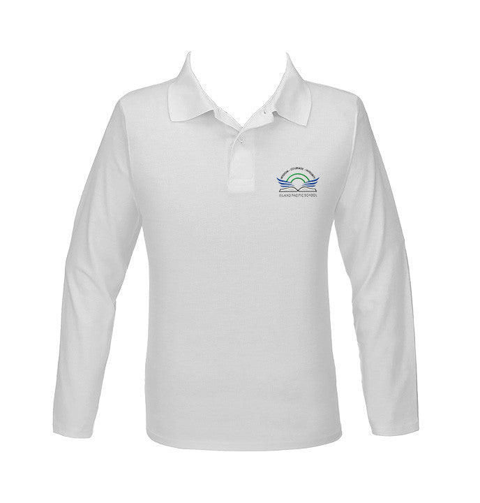 ISLAND PACIFIC GOLF SHIRT, UNISEX, LONG SLEEVE, ADULT
