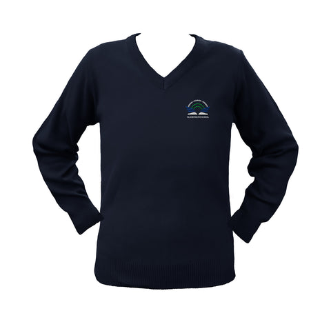 ISLAND PACIFIC NAVY PULLOVER, UP TO SIZE 42