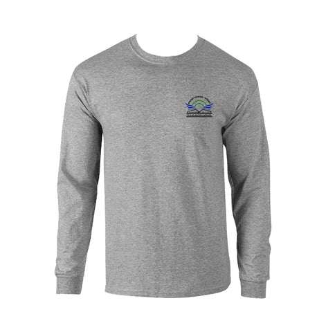 ISLAND PACIFIC GYM T-SHIRT, LONG SLEEVE, COTTON, ADULT