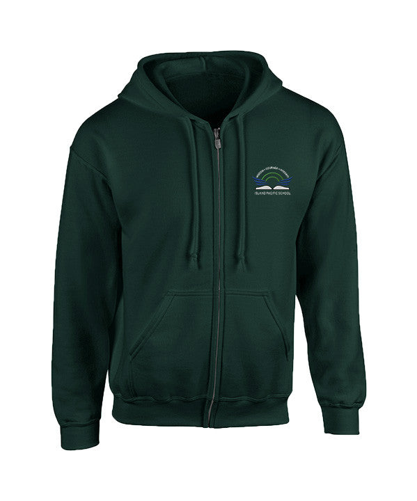 ISLAND PACIFIC FOREST GREEN ZIP HOODIE, YOUTH