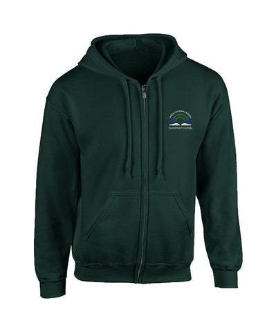ISLAND PACIFIC FOREST GREEN ZIP HOODIE, ADULT
