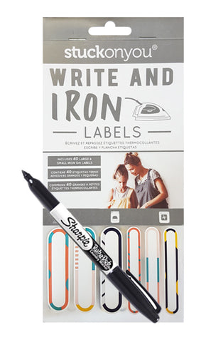 WRITE ON IRON ON LABELS