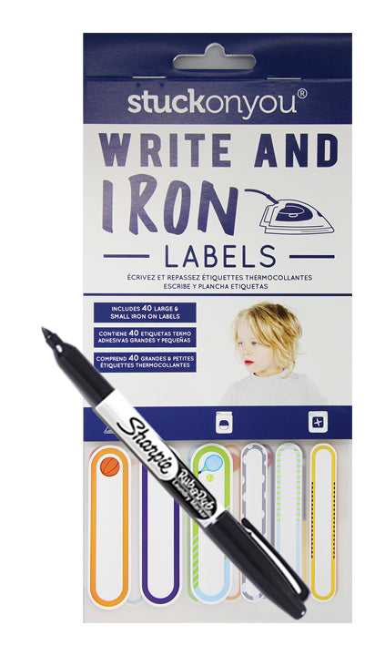 Iron-On Labels (40pk) - Boys