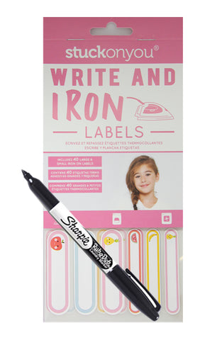 GIRLS WRITE ON IRON ON LABELS