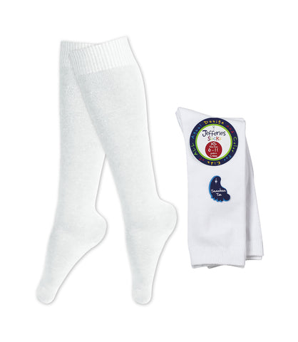WHITE KNEE HIGH SOCKS (2 PACK), YOUTH