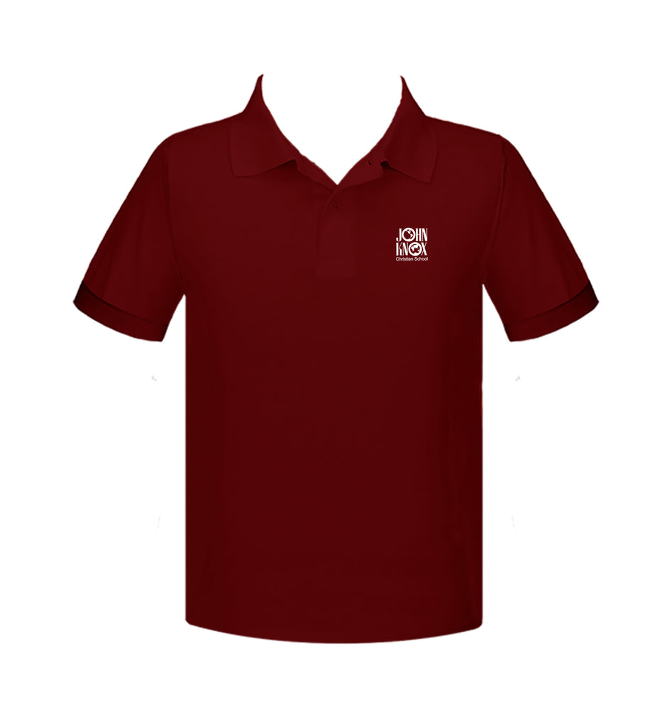 JOHN KNOX GOLF SHIRT, UNISEX, SHORT SLEEVE, ALL COLOURS, ADULT