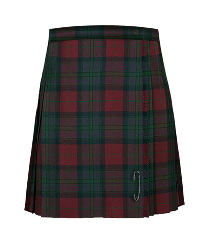 TARTAN KILT WITH AN EXTRA TWO INCHES IN LENGTH, REGULAR BACK