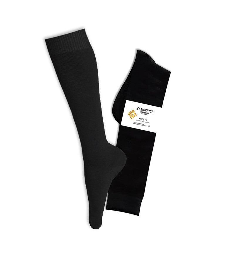 BLACK KNEE HIGH SOCKS, YOUTH