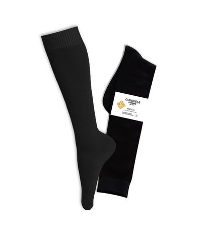 BLACK KNEE HIGH SOCKS, ADULT