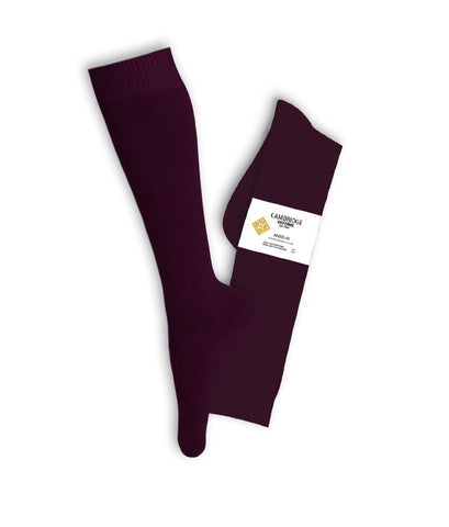 BURGUNDY KNEE HIGH SOCKS, YOUTH