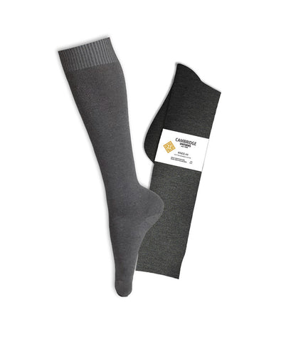 GREY KNEE HIGH SOCKS, YOUTH