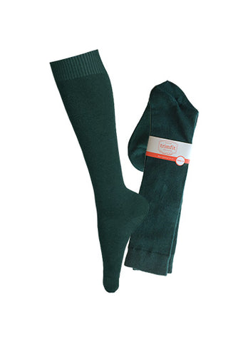 HUNTER GREEN KNEE HIGH SOCKS, YOUTH