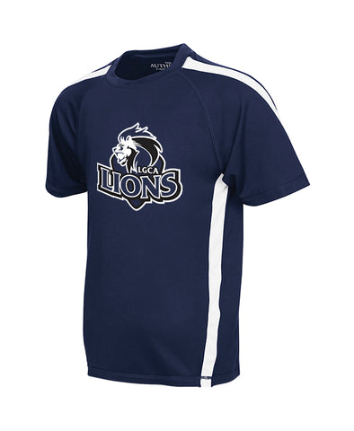 LIONS GATE GYM T-SHIRT, WICKING, YOUTH