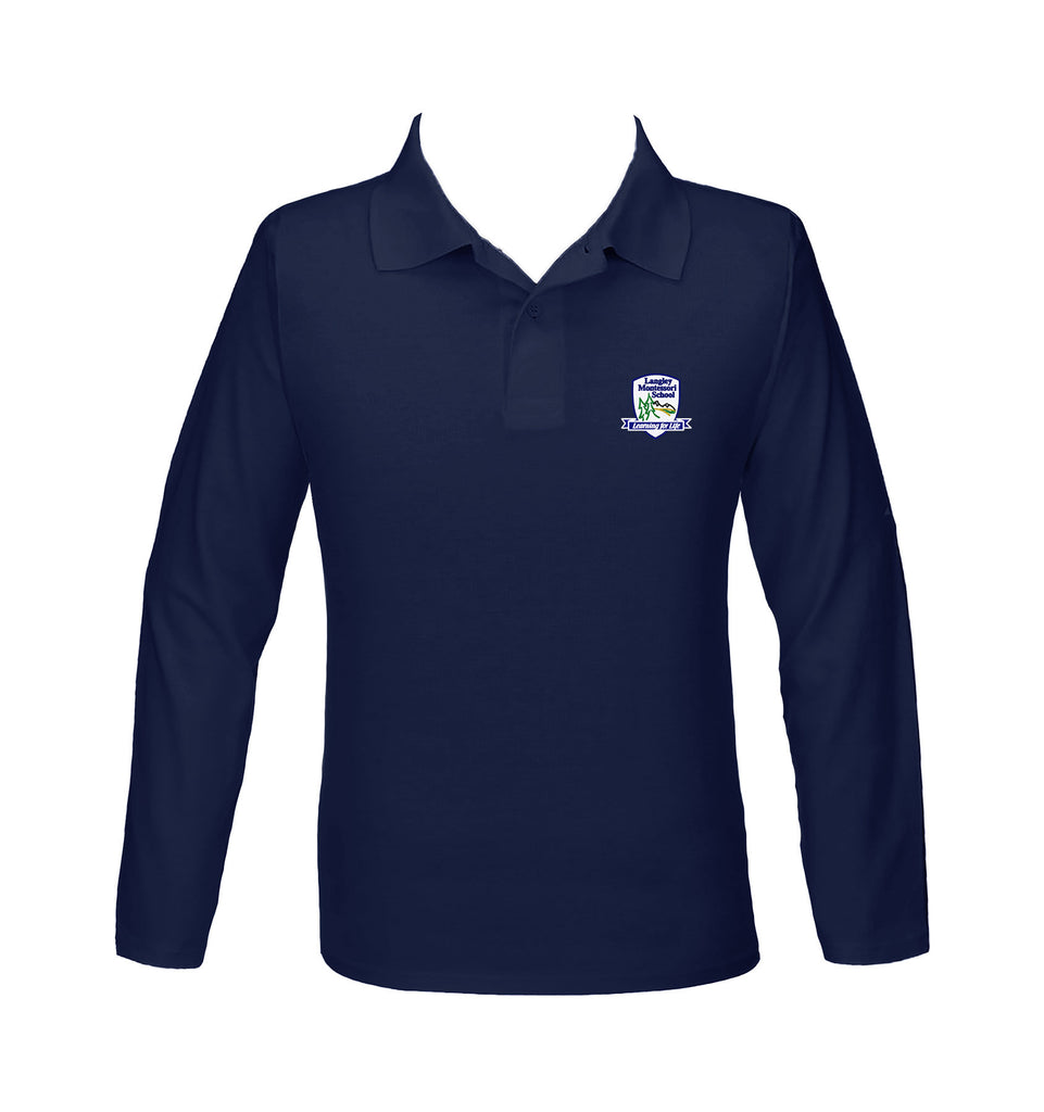 LANGLEY MONTESSORI GOLF SHIRT, UNISEX, LONG SLEEVE, YOUTH