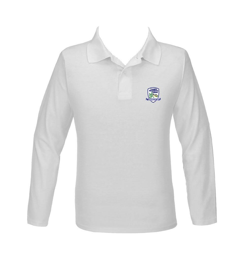 LANGLEY MONTESSORI GOLF SHIRT, UNISEX, LONG SLEEVE, ADULT *DISCONTINUED*