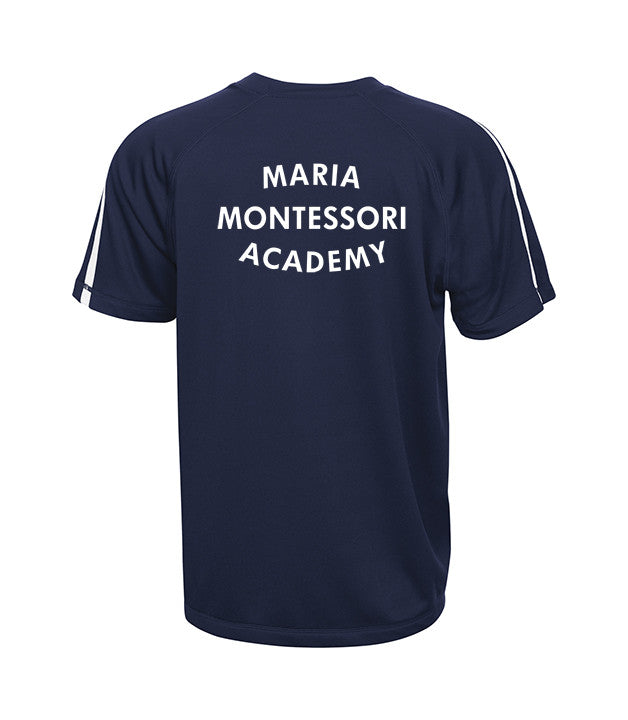 MARIA MONTESSORI GYM T-SHIRT, WICKING, ADULT