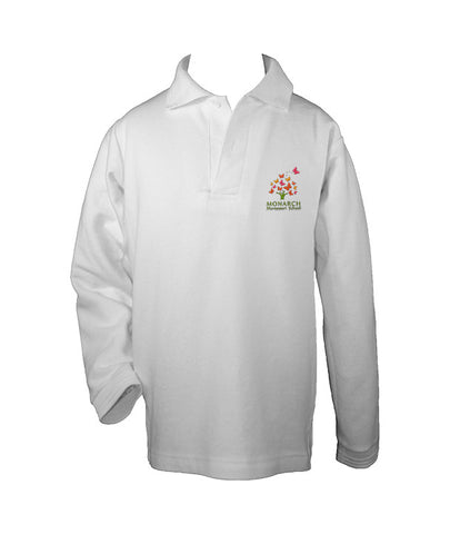 MONARCH MONTESSORI GOLF SHIRT, UNISEX, LONG SLEEVE, CHILD