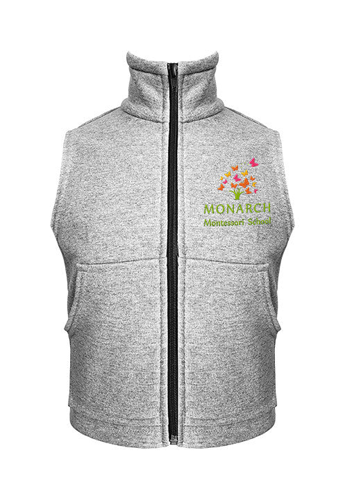 MONARCH MONTESSORI SWEAT VEST, YOUTH
