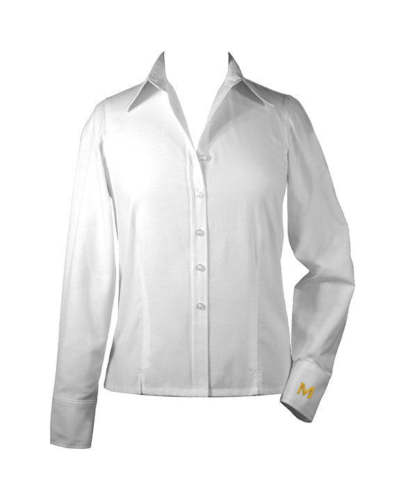 MULGRAVE WHITE LADIES BLOUSE, LONG SLEEVE