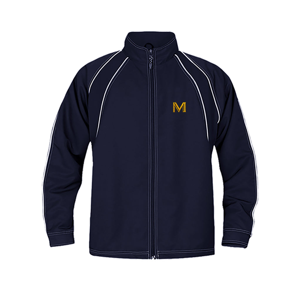 MULGRAVE TRACK JACKET WITH NAME EMBROIDERY, TWILL, ADULT