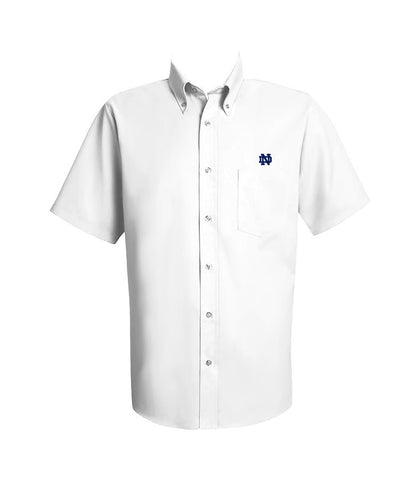 NOTRE DAME DRESS SHIRT, SHORT SLEEVE, MENS
