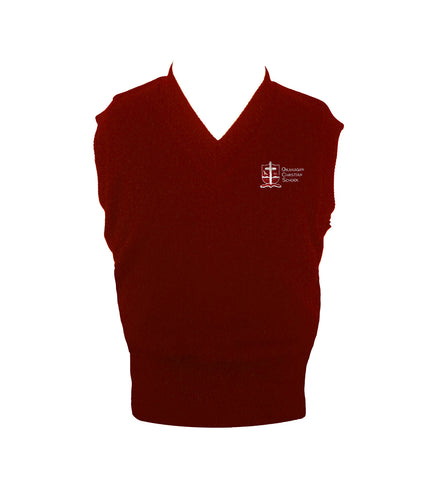 OKANAGAN CHRISTIAN RED VEST, UP TO SIZE 32